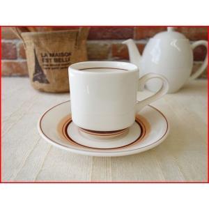 ビンテージ食器コスモシリーズアメリカンコーヒーカップ&ソーサー インスタ映え 昭和レトロ雑貨 北欧風 ティーカップ 業務用 おしゃれ 陶器 白磁|puchiecho