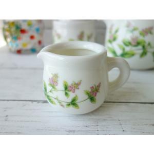 ペパーミントのお花のコーヒークリーマー(ピッチャー ミルクポット クリーマー 陶器 通販 ソースポット ソース入れ )|puchiecho