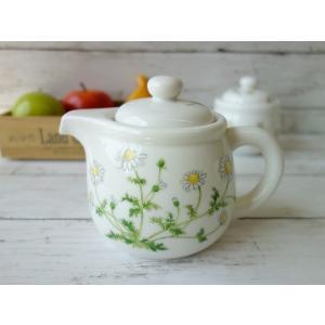 カモミールのお花の茶こし付きティーポット(茶漉し 美濃焼/食器/コーヒーポット/ポット/急須 国産)|puchiecho