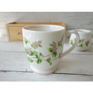 ペパーミントのお花のマグカップ(美濃焼/食器/通販/器/マグカップ/カフェ風/cafe風)|puchiecho
