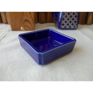 瑠璃色の7cmスクエアミニ小鉢(通販 販売 激安 小鉢 おしゃれ 日本製 かわいい 陶器)|puchiecho