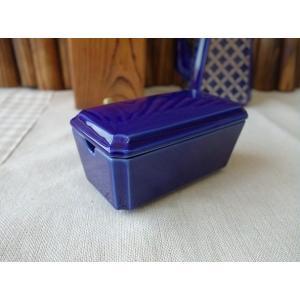 瑠璃色の8cm薬味入れ(2分け)(卓上 小物雑貨 調味料入れ 通販 販売 激安 珍味入れ おしゃれ 日本製 かわいい 陶器)|puchiecho