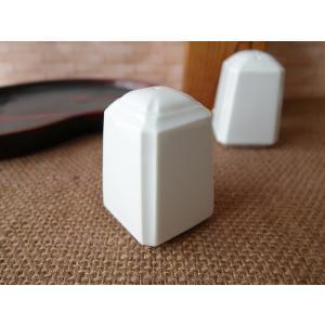 高級白磁材質のおしゃれな塩入れ(穴1つ)(調味料入れ 販売 通販 塩胡椒入れ スパイス入れ 容器) キャッシュレス5%還元 puchiecho