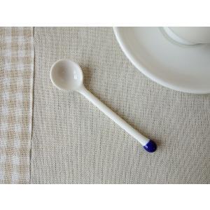 線香花火みたいなかわいいコーヒースプーン(ブルー) 白い食器 おしゃれ カフェ食器 カトラリー 金属アレルギー防止 インスタ映え|puchiecho