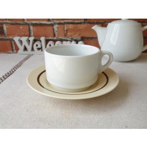 スタックコーヒーカップ&ブラウンマットソーサー/カップソーサーセット スタッキングカップ スタッキングコーヒーカップ 収納 北欧風|puchiecho