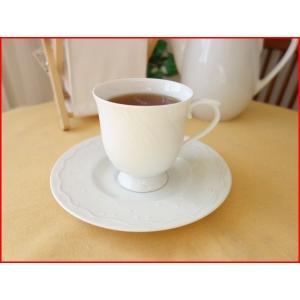 水仙をイメージしたおしゃれなコーヒーカップ&ソーサー/カップソーサーセット 業務用 おしゃれ 陶器 白磁|puchiecho