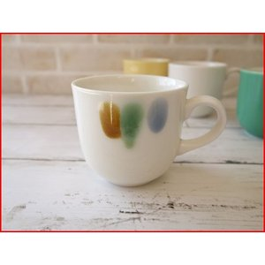 (訳あり)和色カラーバリエーションミニマグカップ(三彩)/おしゃれ 美濃焼 カフェ食器 かわいい 陶器 白い食器 シンプル\|puchiecho