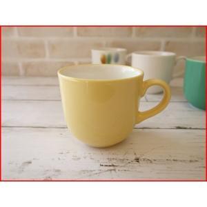(訳あり)和色カラーバリエーションミニマグカップ(くちなし色)/おしゃれ 美濃焼 カフェ食器 かわいい 陶器 白い食器 アウトレット\|puchiecho