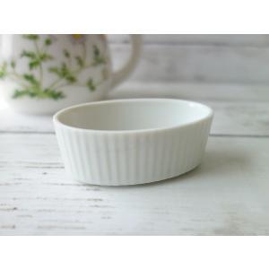 洋食器(訳あり)とっても小さな7cm楕円ミニコスフレ皿 (ココット皿 アウトレット 陶器 調味料入れ)|puchiecho