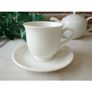 大容量!チューリップみたいなビックカップ&ソーサー(白 業務用 陶器 おしゃれ 美濃焼 ティーカップ 北欧風 日本製)|puchiecho