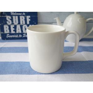 適量サイズ350mlのビッグビッグマグカップ/大きい おしゃれ 美濃焼 カフェ食器 かわいい 陶器 白い食器 シンプル\|puchiecho
