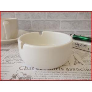 ダルマ型9cm丸形灰皿(ソフトアイボリー色)/おしゃれ 灰皿 業務用 陶器 喫煙具 喫煙グッズ 小さい アシュトレイ\ キャッシュレス5%還元 puchiecho