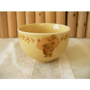 ホールマークデザインの麦わら帽子のクマさんのティーカップ/湯呑み 湯のみ 茶器 湯飲み 煎茶\|puchiecho