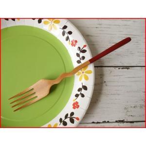 木製カトラリー20cmくねくねサラダフォーク/赤/木の食器,木製食器,おすすめ,おしゃれ,通販,販売\|puchiecho