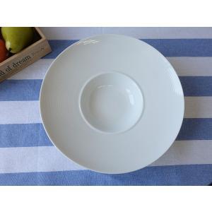 フォーマルディナー洋食器!高級白磁材質28cmディナーボウル(キャペリン)パスタ皿 白い食器|puchiecho