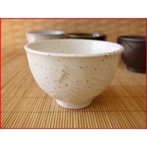 粉引風お椀型10cmミニ抹茶茶碗/お茶碗 ご飯茶碗 和食器 おしゃれ 飯碗\|puchiecho