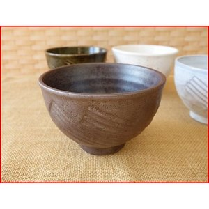 赤備前風お椀型10cmミニ抹茶茶碗/お茶碗 ご飯茶碗 和食器 おしゃれ 飯碗\|puchiecho