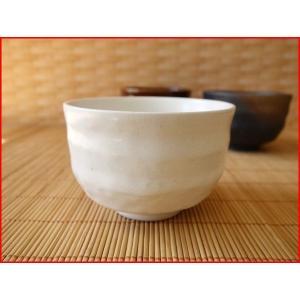 粉引き風10cmミニ抹茶茶碗/抹茶碗 ナチュラル 小鉢 カフェオレボウル 和\|puchiecho