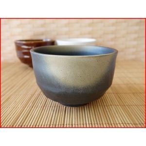 黒備前焼き風10cmミニ抹茶茶碗/抹茶碗 ナチュラル 小鉢 カフェオレボウル 和\|puchiecho