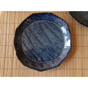 瑠璃海鼠15cm横しのぎ取り皿/菓子皿 銘々皿 美濃焼 小皿 和食器 おしゃれ 陶器\|puchiecho