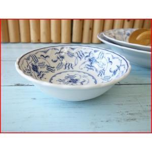 ブルーペルシアン13cmキャラメルアイスボール/業務用食器 カフェ食器 小鉢 おしゃれ ヨーロッパ風 インスタ映え キャッシュレス5%還元 puchiecho
