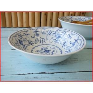 ブルーペルシアン16cmサラダボール/業務用食器 カフェ食器 白い食器 中鉢 おしゃれ ヨーロッパ風\|puchiecho