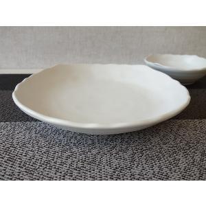 粉引風スクエア21cmミニカレー皿   パスタ皿 カレーパスタ皿 和食器 和皿 おしゃれ 美濃焼 日本製 業務用|puchiecho