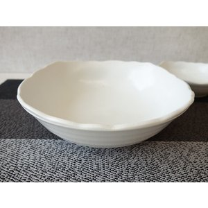 粉引風スクエア20cmサラダボール/和食器 大鉢 盛鉢 陶器 ボウル 大 業務用\|puchiecho