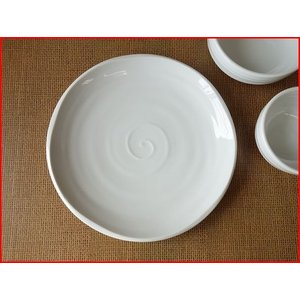 鳴門の渦潮24cmソーセージの盛り皿プレート/和食器 おしゃれ ワンプレート 食器 激安 大皿 ランチプレート\|puchiecho