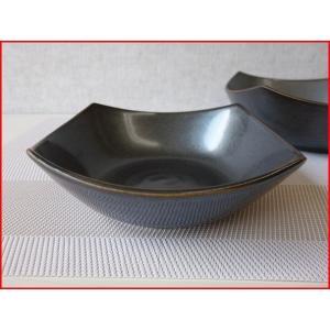 和鉄器スクエアー15cm和風ミニサラダボール(角皿)/和食器 取り鉢 中鉢 盛り鉢 陶器 ボウル\|puchiecho
