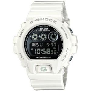 カシオ ジーショック G−SHOCK DW-6900NB-7JF メンズ ホワイト 黒文字盤 白い腕時計 防水 20気圧防水|puchikobe