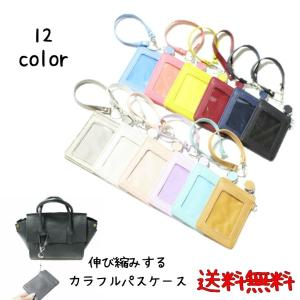 パスケース 定期入れ  レディース  女の子の定期入れ 免許書入れ 伸ばせるパスケース 薄型定期入れ 薄いパスケース 革 鞄に付けれるパスケース|puchikobe