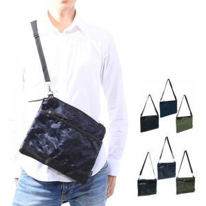 サコッシュバッグ 薄型ショルダーバッグ メンズ バッグ 鞄 カモフラージュ柄 迷彩柄 薄い 無地