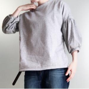バルーン袖 Tシャツ 五分丈|puchiwink