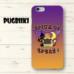 【全面印刷iphone】ハロウィン パグ1(フォーン)ハードiphoneケース pugbiiki
