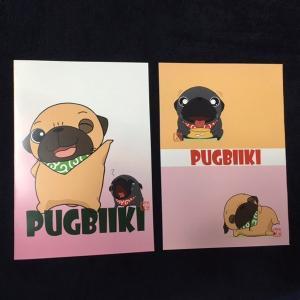 【翌日発送】オリジナルパグイラストのフルカラーA5ノート|pugbiiki