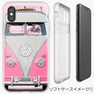 RED BUBBLE iphone/Galaxyケース ワーゲンでお出かけおめかしパグ(ぱぐ グッズ)|pugbiiki