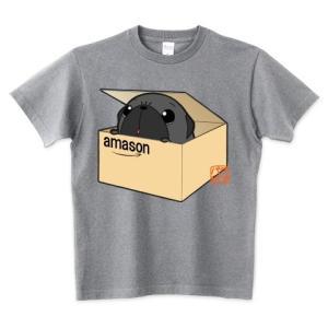 色・サイズ豊富 箱入り黒パグ5.6オンスTシャツ(ぱぐ グッズ) pugbiiki