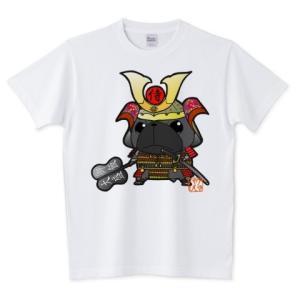色・サイズ豊富 武将パグ(黒パグ) 5.6オンスTシャツ(ぱぐ グッズ) pugbiiki