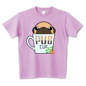 色・サイズ豊富 パグカップ(フォーン)5.6オンスTシャツ(ぱぐ グッズ) pugbiiki