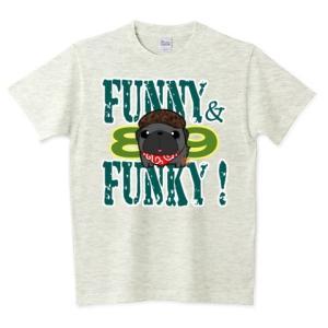 色・サイズ豊富 FUNNY&FUNKY ハンチング帽の黒パグ 5.6オンスTシャツ(ぱぐ グッズ) pugbiiki