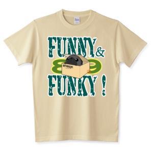 色・サイズ豊富 FUNNY&FUNKY箱入りパグ(黒パグ)5.6オンスTシャツ(ぱぐ グッズ) pugbiiki