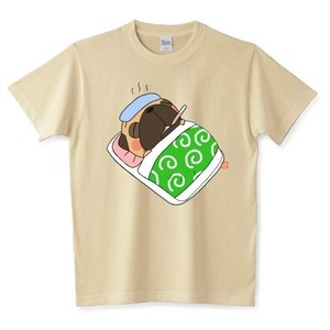 色・サイズ豊富 お大事に…1(フォーン)  5.6オンスTシャツ(ぱぐ グッズ) pugbiiki