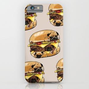 society6 iphone/Galaxyケース  おいしい?パグのハンバーガー(ぱぐ グッズ)|pugbiiki