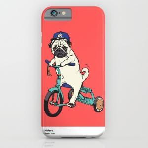 society6 iphone/Galaxyケース 野球帽と三輪車パグ(ぱぐ グッズ)|pugbiiki