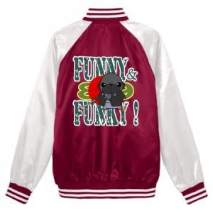 スタジアムジャンパー FUNNY&FUNKY!シリーズ パグ侍(黒パグ) pugbiiki