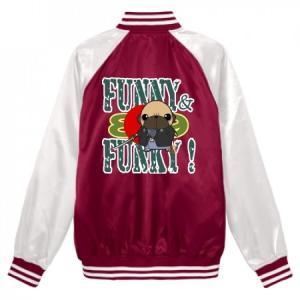 スタジアムジャンパー FUNNY&FUNKY!シリーズ パグ侍(フォーン) pugbiiki