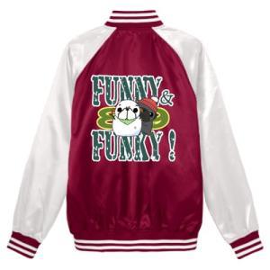 スタジアムジャンパー FUNNY&FUNKY!シリーズ 雪だるまパグ(黒パグ) pugbiiki