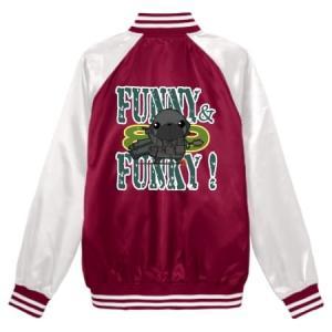 スタジアムジャンパー FUNNY&FUNKY!シリーズ パグ戦士(黒パグ) pugbiiki