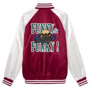 スタジアムジャンパー FUNNY&FUNKY!シリーズ パグ戦士(フォーン) pugbiiki